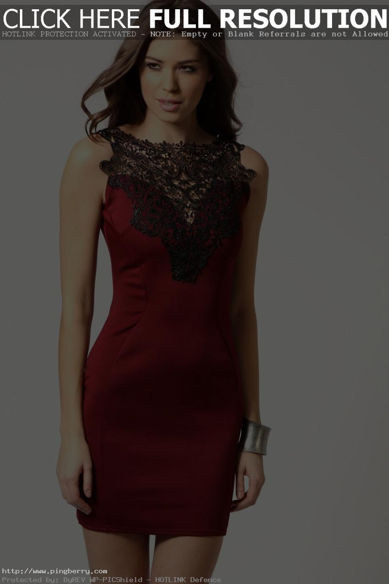 Red New European Fashion Mini Evening Party Dress Bodycon Bandage Dresses
