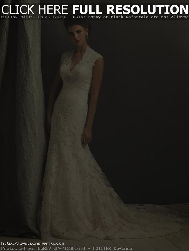 ivory lace cap sleeve wedding dress