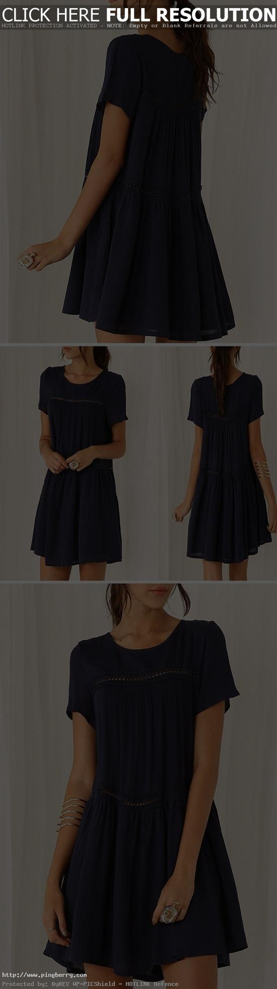 Those casual dresses are stunning yet simple. Add them to your collection for ev...